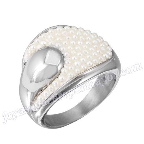 Material: Acero Inoxidable   Nombre: Precios anillos de compromiso de acero inoxidable 316l, al por mayor de moda 2013   Model No.:SSRG040   Peso:7.52G
