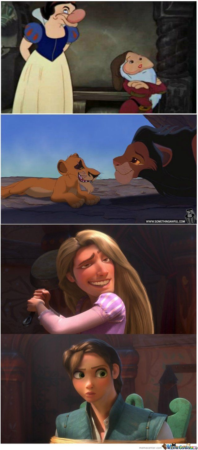 The Lion King one actually looks good, but the Tangled one is making me cry from laughing.