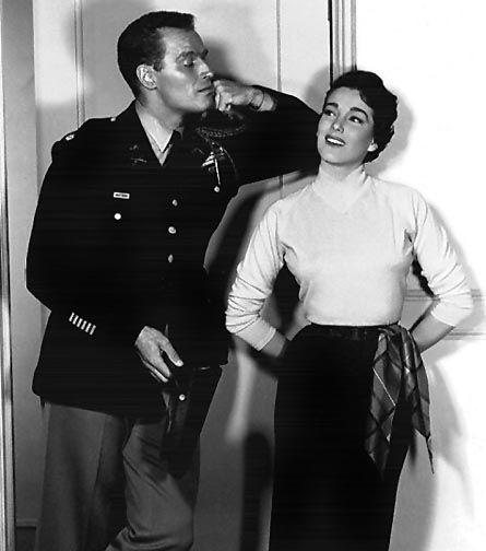 Julie Adams and Charlton Heston