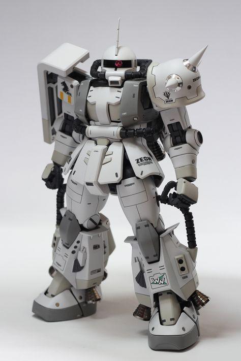 GUNDAM GUY: MG MS-06R-1A ZAKU II SHIN MATSUNAGA CUSTOM - Custom Build