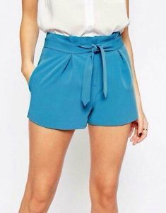 Asos Short Size 8 10 Relaxed FIT AND A TIE IN Waist   eBay