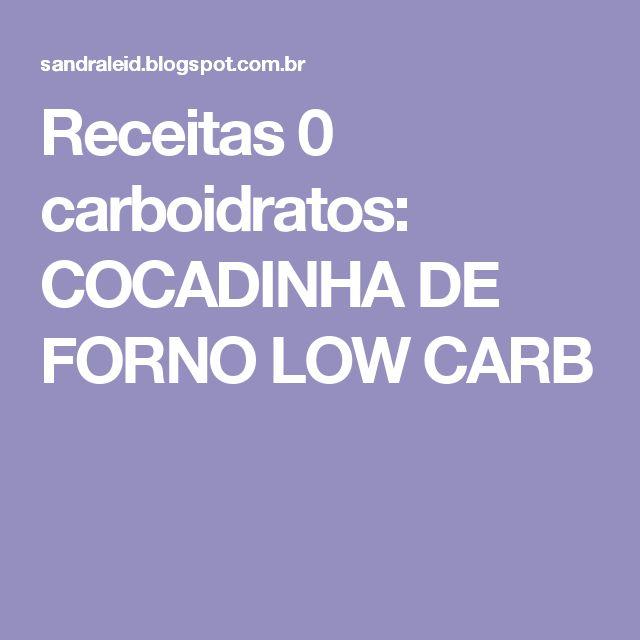 Receitas 0 carboidratos: COCADINHA DE FORNO LOW CARB