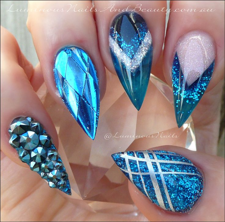 The 25 best young nails ideas on pinterest matte nail designs metallic blue nails sculptured acrylic with gellyfit australia syrup c16 bg03 prinsesfo Images