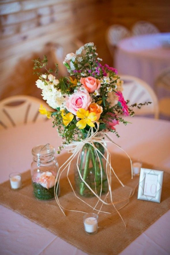 109 Best Images About Rustic Wedding Centerpieces On