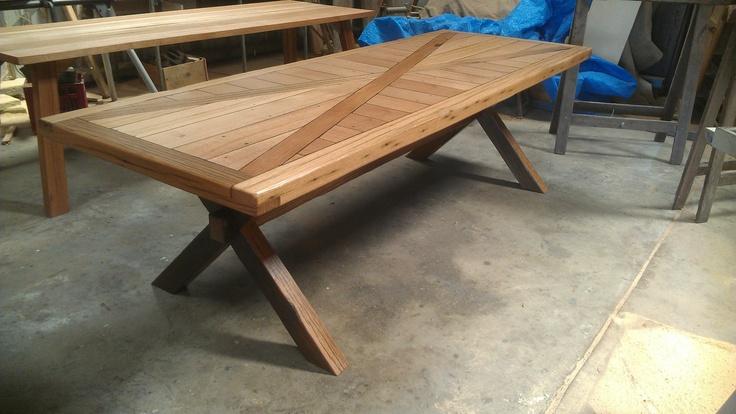 Designer Vintage Industrial Custom Made Table BY Karrottopdesign | eBay