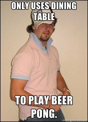 Douchey Boyfriend meme meets Beer Pong - The Brew Noob