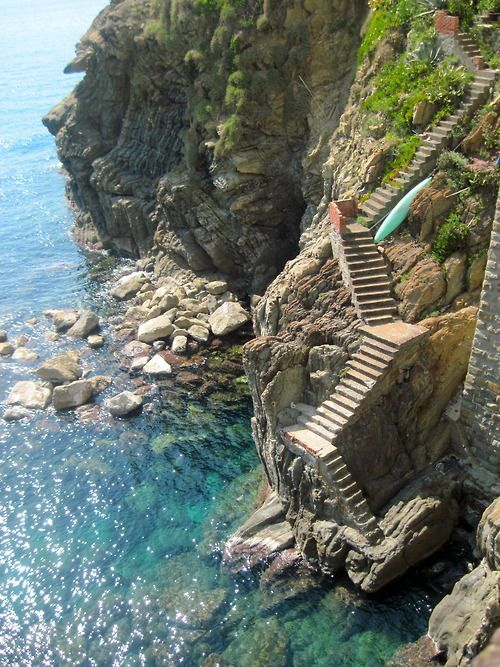 Steps to the Sea, Cinque Terre, Italy: Cinque Terre, Stairs, Travel, Beauty, Place, Amalficoast, Stairways, The Sea, Amalfi Coast Italy