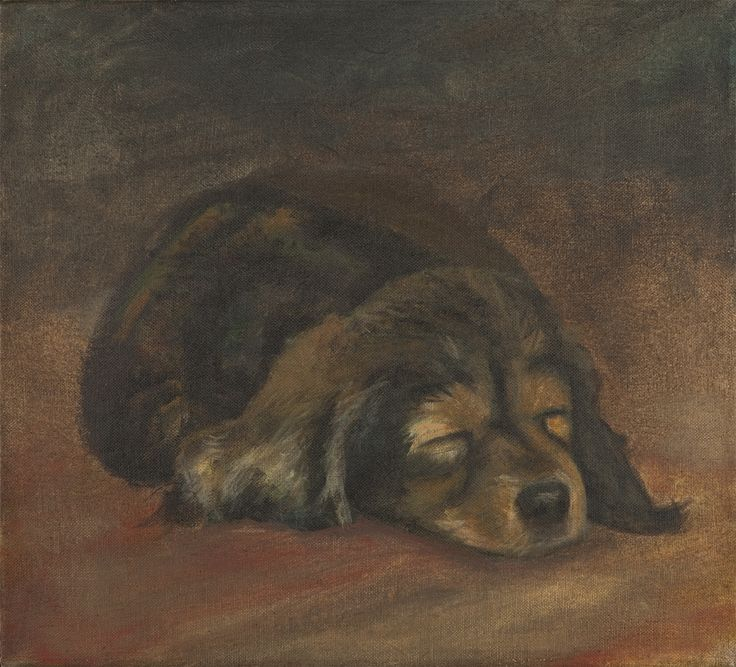 Puppy oilpainting