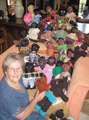 Uthando Project started by Child Psychiatrist, Dr Julie Stone: Australians, children and adults, making soft dolls for the children of KwaZulu Natal. Simple patterns and classroom project material available for download. KZN is home to one quarter or South Africa's children where 2 out of 3 live in poverty, who need play and social opportunities along with their healthcare and education.