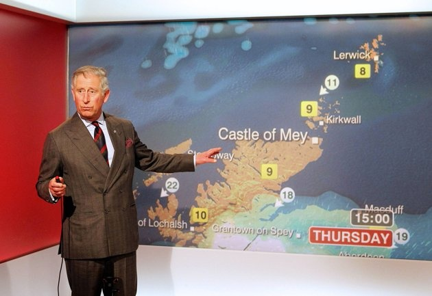 Pic. of the week 1. Prince Charles became a hit on the Web after presenting the weather forecast during a tour of the studios at BBC Scotland in Glasgow. The visit formed celebrations to mark 60 years of BBC Scotland Television.