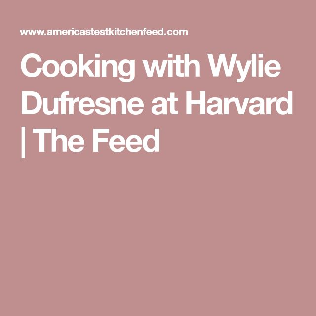 Cooking with Wylie Dufresne at Harvard | The Feed