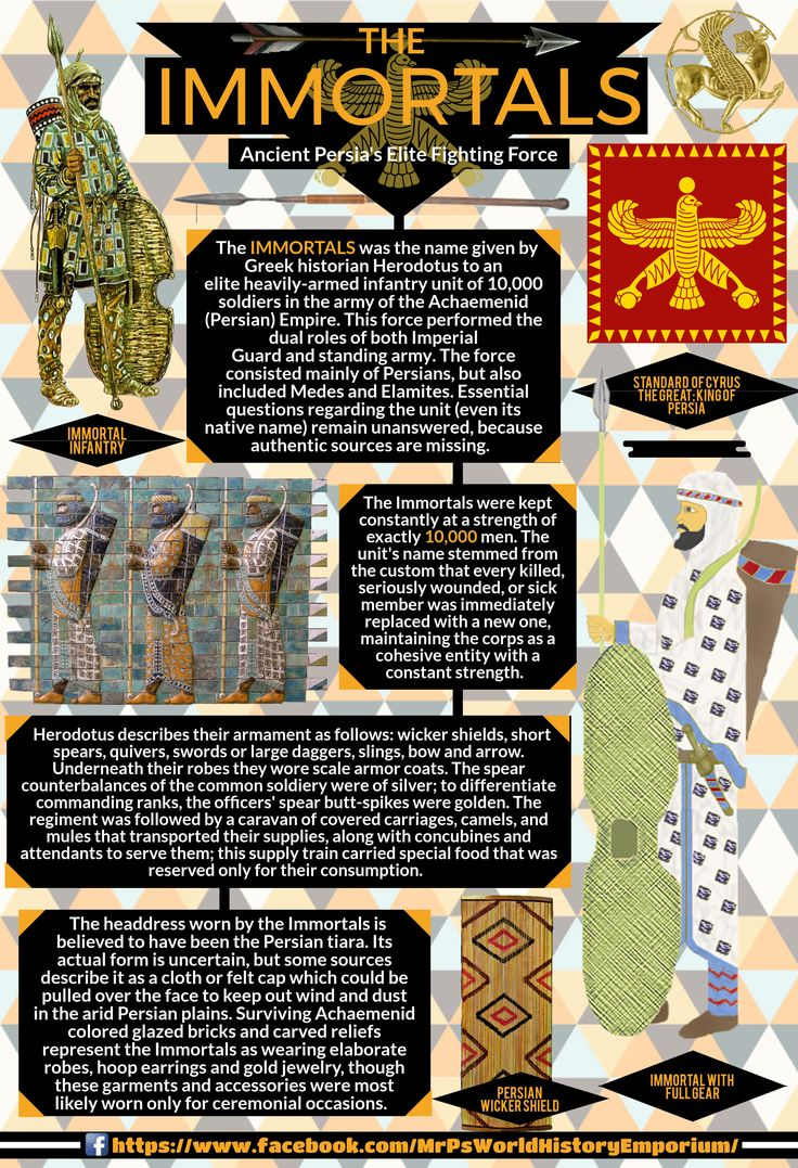 The 10,000 Persian Immortals! #Immortals #Infographic #Persia #Achaemenid #Empire #History #MrPsWHE  https://www.facebook.com/MrPsWorldHistoryEmporium/