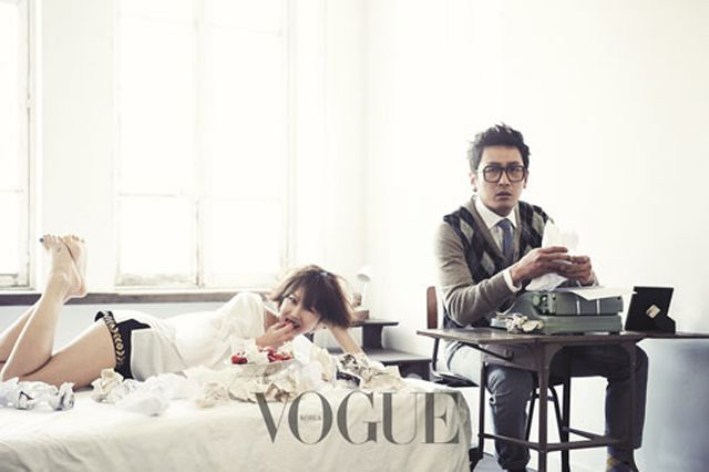 Eye Candy : Gong Hyo Jin and Ha Jung Woo for Vogue | rolala loves