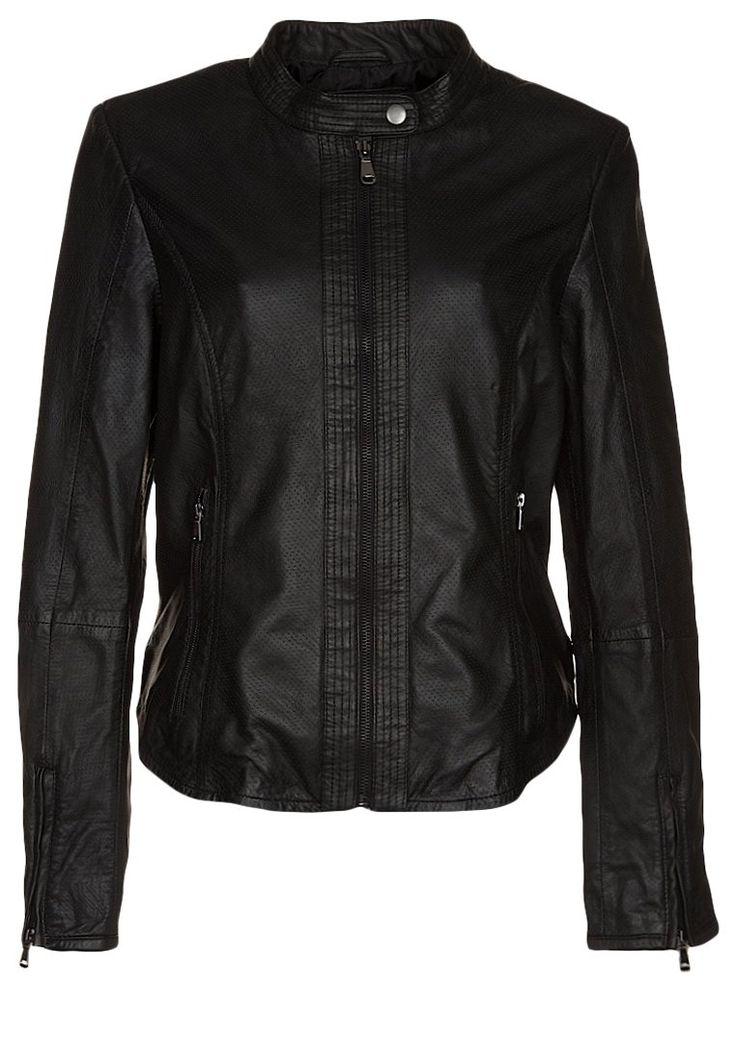 Esprit Leather jacket black