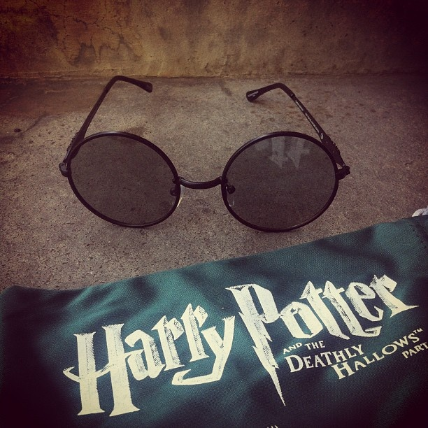 I was lucky enough to obtain these Harry Potter 3D glasses. They're not like the typical kind as they're actual metal wire instead of plastic. I never take it to the cinemas from fear of losing it! Definitely a collectors item, and I love it.  #HarryPotter #DeathlyHallows #TheDeathlyHallows #3D #glasses #3Dglasses #JKRowling #fantasy #geekery
