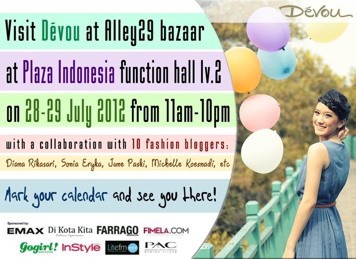 Fashion bazaar at Plaza Indonesia - NEXT WEEK!