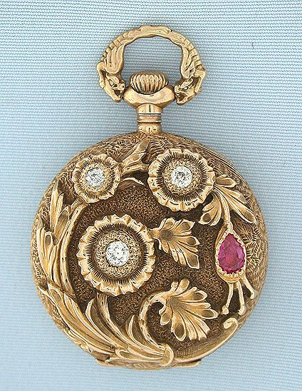 777 best pocket watch wrist watch images on pinterest wrist beautiful gruen 14k gold diamond and ruby beautifully decorated ladies antique pendant watch circa mozeypictures Images