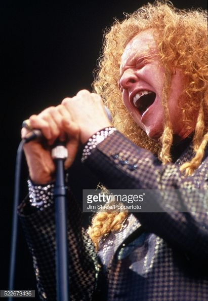 Mick Hucknall of Simply Red performing on stage at Wembley Stadium in London on the 11th July, 1992.