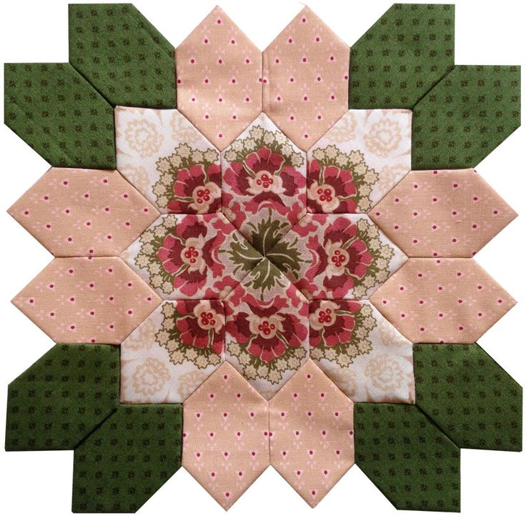 Pretty in PInk!  Lucy Boston Block #38 from PIeceful Gathering Quilt Shop.  Call 847-516-7911 to join the mail order club.