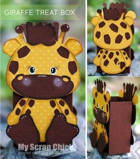 Giraffe Treat Box with Backside: click to enlarge