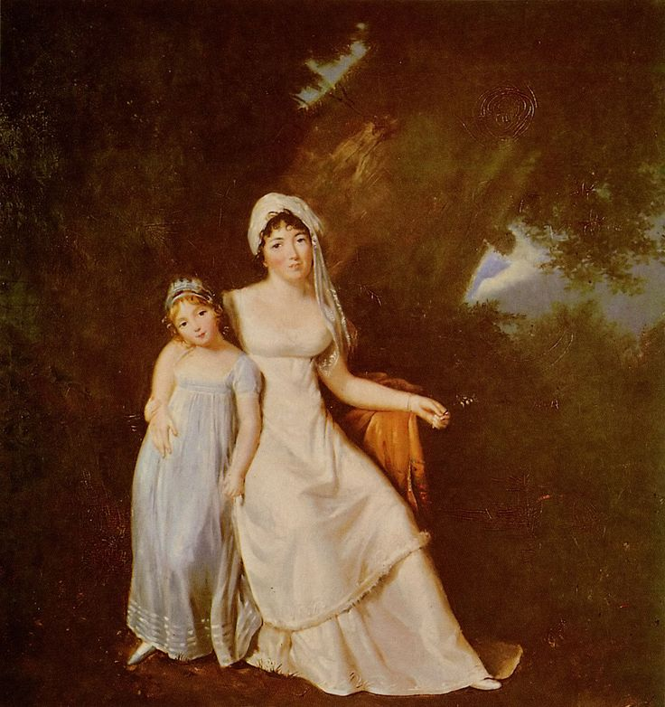 "Marguerite Gérard (1761–1837) Germaine Necker""Mme de Staël""et sa fille(daughter Albertine=Louise de Broglie's mother and grandmother, painted 13 years before her birth)_ spouse(s)swedish atache in Paris	Erik Magnus Staël von Holstein (m. 1786–1802); his death Albert de Rocca (m. 1811–17); her death) c.1805 oil on canvas 	Collections du Château de Coppet(owned by Madam Stäel)Monsieur Stael & Madame Germaine have 4×children:  #Gustavine(1787-89) godfather Swedish king Gustav III.#Auguste…"