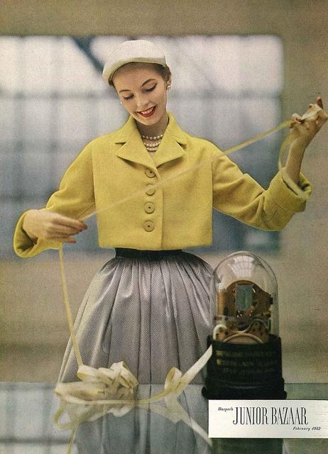 Harper's Bazaar, February 1952 by dovima_is_devine_II, via Flickr