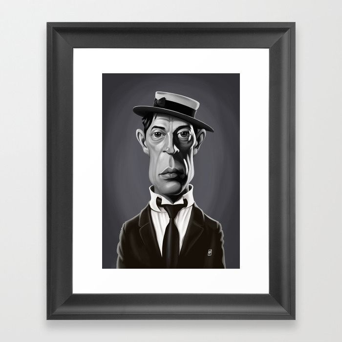Buster Keaton art   decor   wall art   inspiration   caricature   home decor   idea   humor   gifts