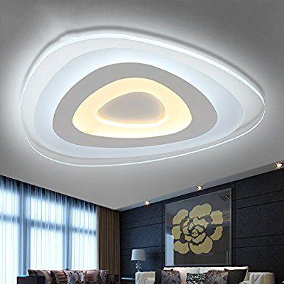 Fresh Indoor Decke Moderne minimalistische ultrad nne LED Decke Wohnzimmer Schlafzimmer kreative warmes Licht Lampen ZBBZ