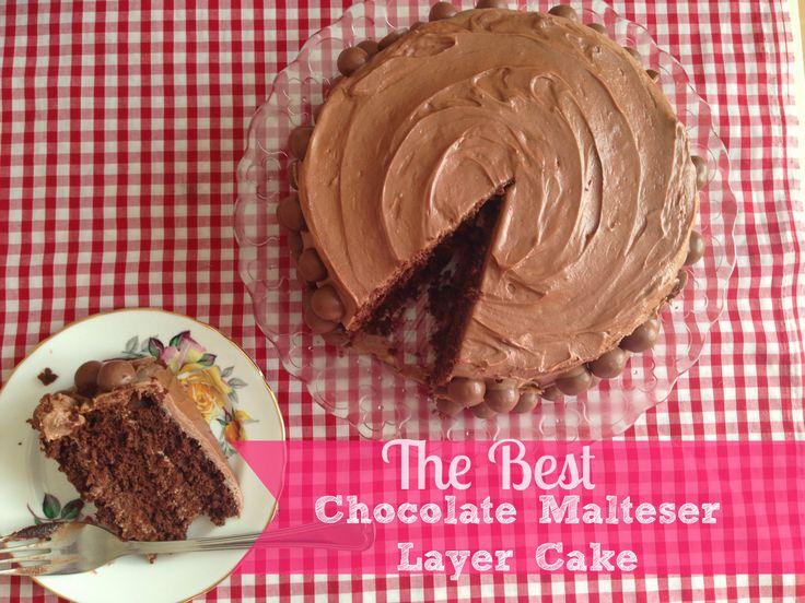 The best Chocolate Malteser Cake! With moist chocolate malt sponge, addictively delicious chocolate malt cream cheese frosting, and PLENTY of maltesers!
