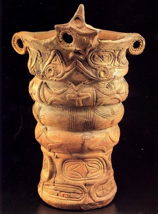 Japanese clay vessel made in Jyomon era (BC 145~3000), Japan