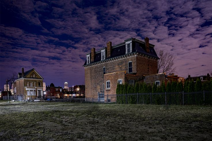 Detroit: Where We Used to Live - photographs by Bill Schwab  the sky is beautiful in this, and contributes to the hauntingly beautiful house