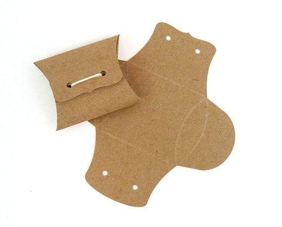Mini Pillow Boxes  DIY Kraft favor boxes  2 x by WishDesignStudio, $12.50