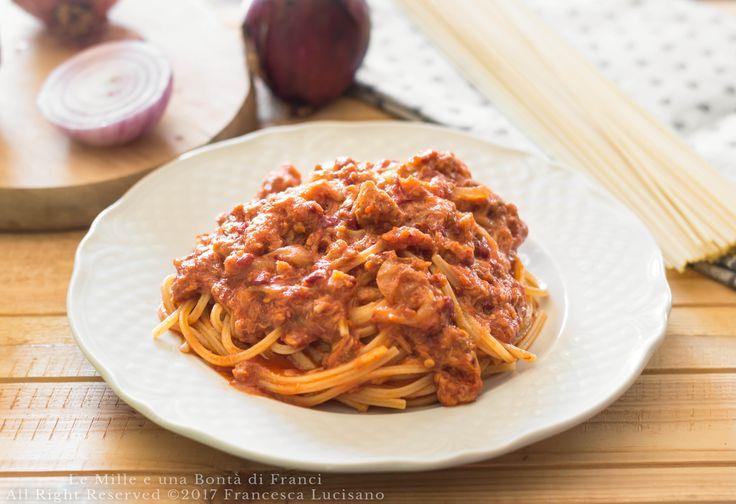 Spaghetti+con+tonno+cipolla+e+'nduja