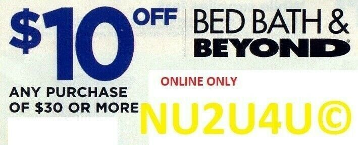 Bed Bath Beyond Online Coupon 10 Off Any Purchase Of 30 Or