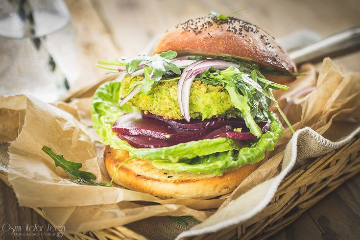 Green peas burger