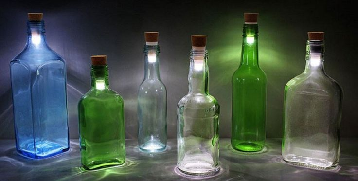 Tapón LED recargable que transforma botellas viejas en lámparas románticas