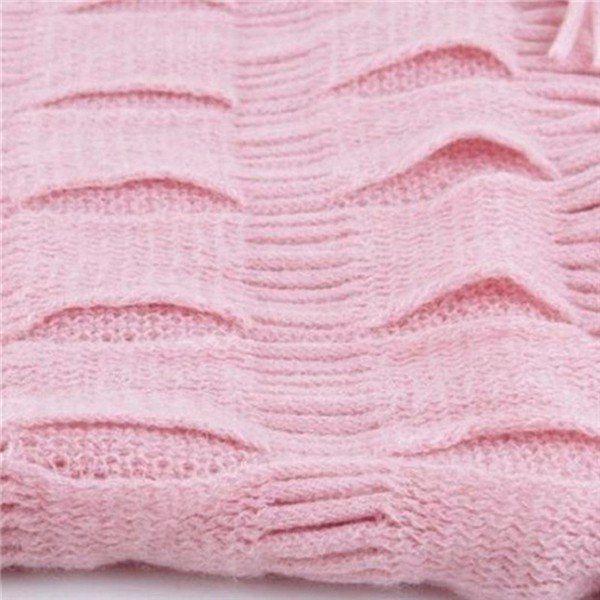 Women Winter Warm Knit Fringe Tassel Neck Wrap Circle Snood Scarf Shawl