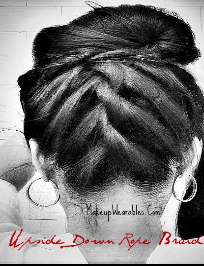 How to upside down braid into bun/chignon updo for short, medium, long hair tutorial. Easy hairstyles for casual, formal, prom, homecoming, wedding    #hairstyles #hair #hairtutorial #updos #updo #hairstyle #braid #longhair #mediumhair #wedding #bridal #curls #hairtutorial #hairdos