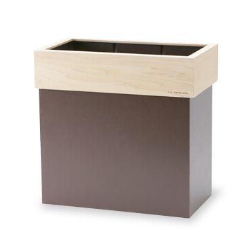 yamato japan/HANGER DUST M ブラウン 7350yen ありそうでなかった木製の分別ゴミ箱