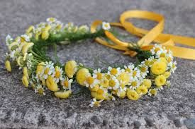 Image result for yellow hair with yellow flowers