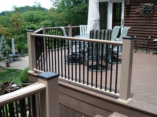 Railing designs for outdoor decks and different for Composite deck railing