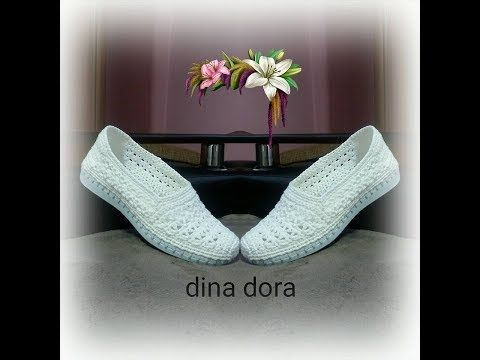 Tutorial Easy Crochet Slippers in English - YouTube