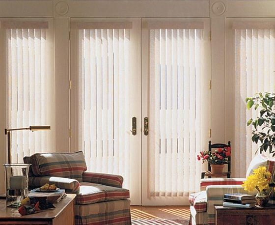 17 best ideas about traditional vertical blinds on - Curtains for sliding glass doors in bedroom ...