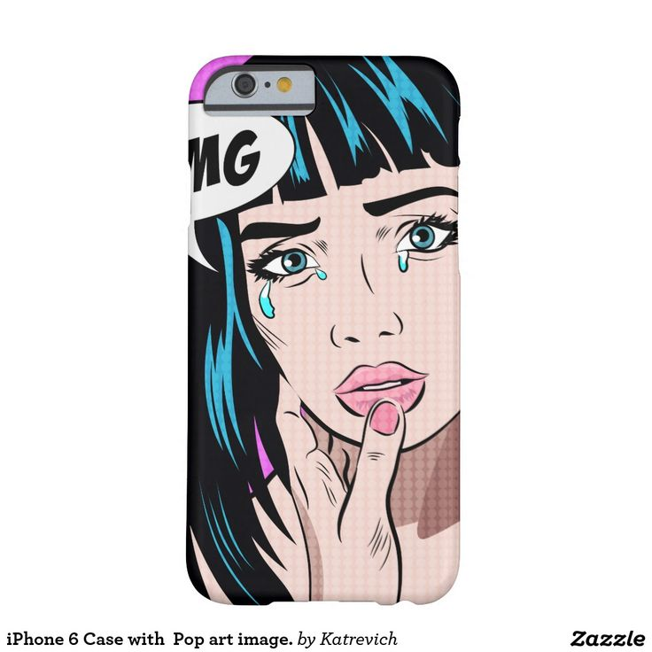 iPhone 6 Case with  Pop art image.