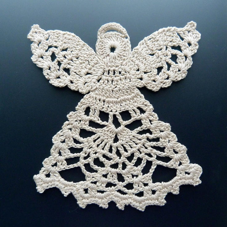 Crocheted Doily - Angel in Lace.