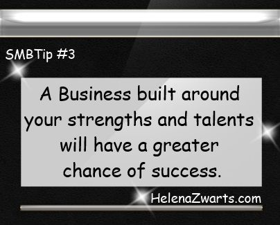 A business built around your strengths and talents will have a greater chance of success
