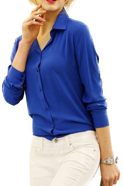 Sheer Blue Shirt