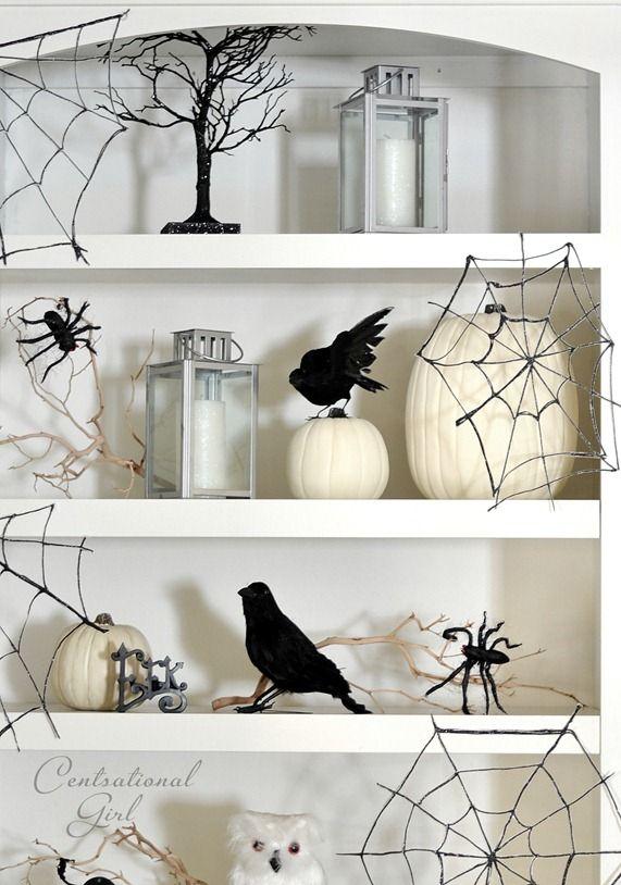 Make glitter spider webs! Glue on wax paper, and add black glitter.