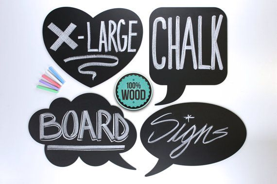 XXL Chalk Board Photo Booth Signs 4 Baby Shower by PhotoBoothProp. These dry erase word bubble chalkboards are also offered in dry erase material.