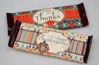 Free Thanksgiving Printable Candy Bar Wrappers